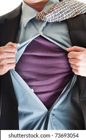 Business man in super hero concept