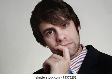 business man thinking looks deep in thought