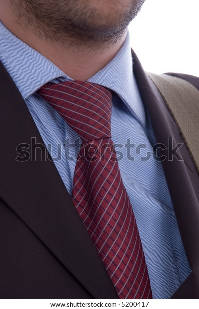 business man tie detail