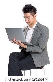 Business man use laptop