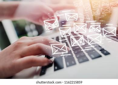 Business man using laptop