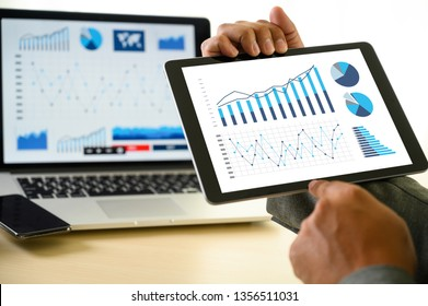 business man work chart schedule or planning financial report data methodology