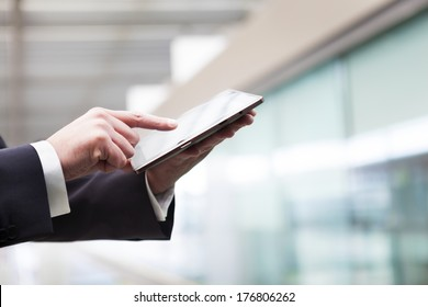 Business man working with a digital tablet