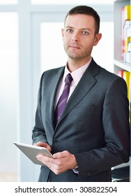 business man working with documents and laptop