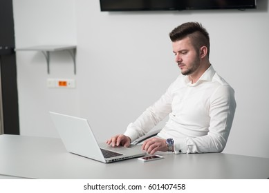 Business man working in an office