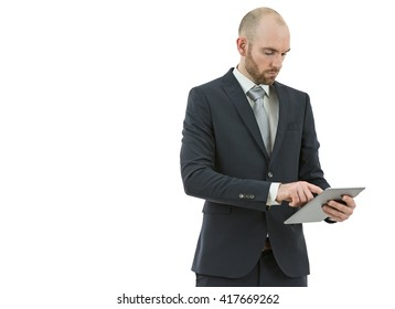 Business man working with a tablet computer