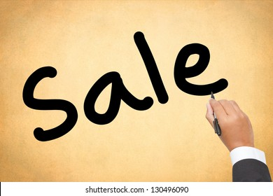 business man writing hot Sale