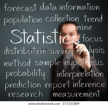 Ysis In Writing | Business Man Writing Statistics Concept Stock Photo Edit Now