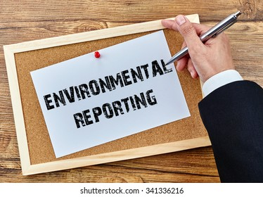 Business and management concept - Environmental Reporting