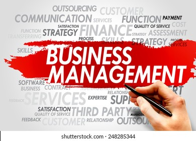 Business Management word cloud, business concept