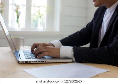 Business man.businessman working on computer,