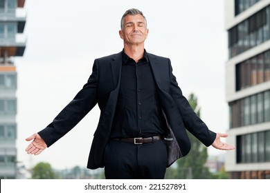 Business Mann meditation