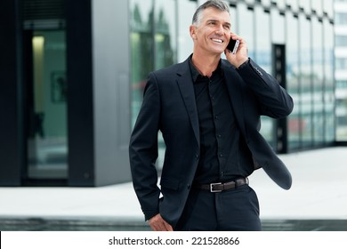 Business Mann with telephone