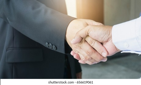 business mans handshake, Business partnership meeting concept.