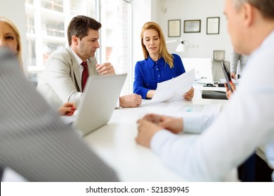 Business meeting and brainstorming in modern office