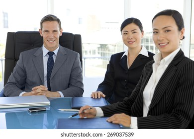 Business meeting with Chinese