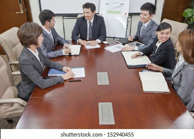 Business Meeting in a Conference Room