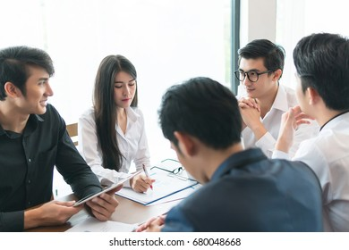 business meeting conference teamwork corporate office discussion communication professional team