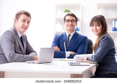 Business meeting with employees in the office