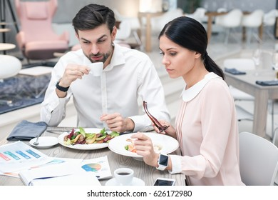 Business meeting in luxury restaurant