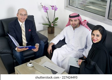 Business Meeting in office, Arabian business people meeting with Foreigners in office
