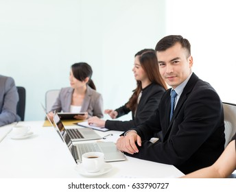 Business meeting in office room