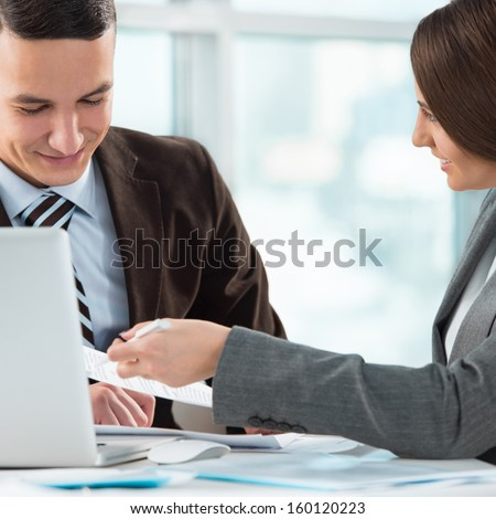 Two People Business Meeting