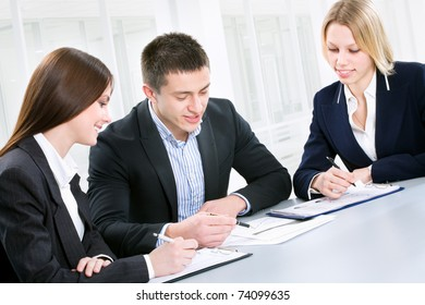 Business meeting - Team working on project