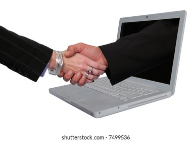 Business metaphor representing E-commerce agreements.