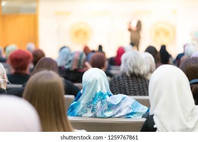 Business muslim people in conference/Sarajevo-bosnia and herzigovina 16 March 2018
