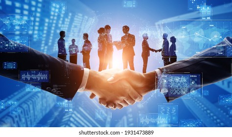 Business network concept. Group of people. Shaking hands. Customer support. Human relationship. Success of business. Management strategy.