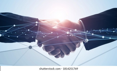 Business network concept. Shaking hands. Teamwork. Human resources. *Video version available in my portfolio.