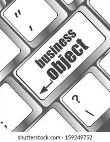 business object - social concepts on computer keyboard key button, raster