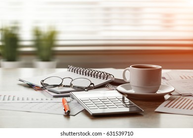 Business Objects in the office on the table