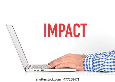 BUSINESS OFFICE BUSINESSMAN WORKING AND IMPACT CONCEPT