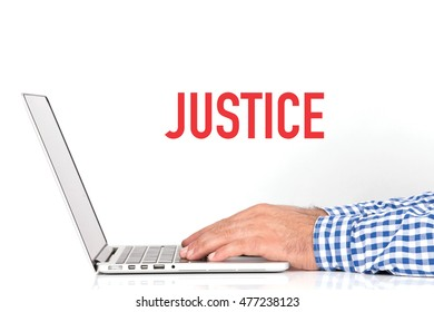 BUSINESS OFFICE BUSINESSMAN WORKING AND JUSTICE CONCEPT