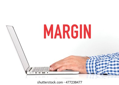 BUSINESS OFFICE BUSINESSMAN WORKING AND MARGIN CONCEPT