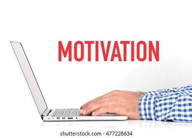 BUSINESS OFFICE BUSINESSMAN WORKING AND MOTIVATION CONCEPT