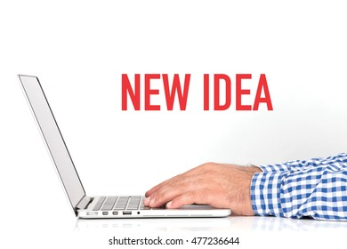 BUSINESS OFFICE BUSINESSMAN WORKING AND NEW IDEA CONCEPT