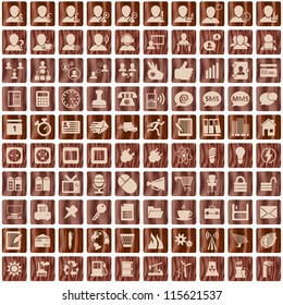 Business and office set of different web icons. Raster version.