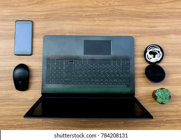 Business on the desk Working document paper Laptops Computer Notebook
