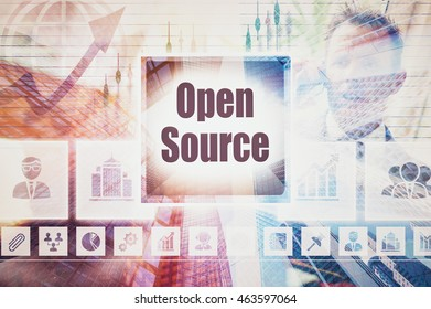 Business Open Source collage concept