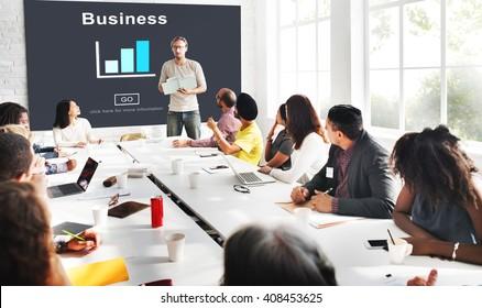 Business Organization Bar Chart Statistics Concept