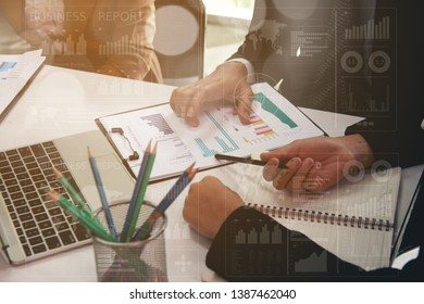 Business Partner Working as a Team, Business partnership join hands after successfully discussing and Negotiating a merger agreement with a credible concept of Success.