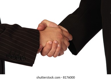 Business partners closing the deal with a hand shake
