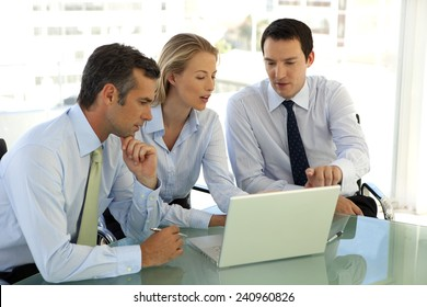 Business partners working together