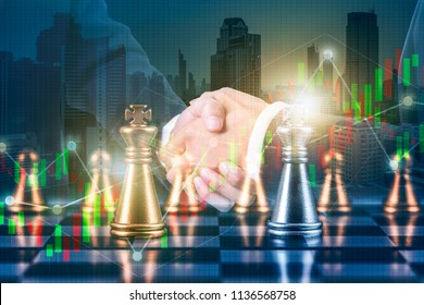 Business partnership successful and strategic plan concept , 