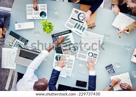 Business People Accounting Report Analysis Concept