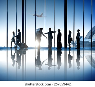 Business People Airport Security System Business Travel Journey