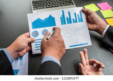 Business people are analyzing and planning business. Business Strategy Consulting